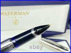 WATERMAN EDSON Sterling Silver Limited Edition Fountain Pen 18K Fine Nib NEW