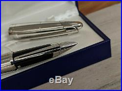 WATERMAN Edson Sterling Silver Limited Edition Fountain Pen, Medium 18K 750 Nib