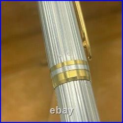WATERMAN MAN 100 STERLING SILVER Fountain Pen 18K Fine nib Near Mint Boxed