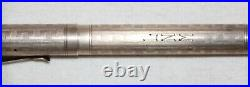 Wahl Fountain Pen, Sterling Silver With Inscribed Geometric Pattern