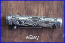 Waterman 412 SF Sterling Silver Filigree Rare Sleeve Thumb Filler Fountain Pen