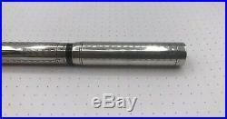 Waterman 452 Fountain Pen Super Flexible Gold Nib Sterling Silver