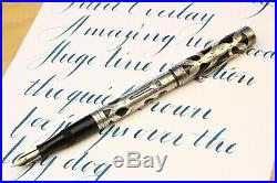 Waterman 452 Sterling Silver Overlay Wet Noodle XF BBB (with video!)