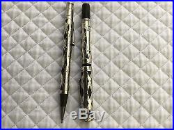 Waterman Antique Sterling Silver Set Pen And Pencil