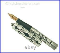 Waterman IDEAL 452 1/2 Basketweave Silver Filigree lever filler safety 1920