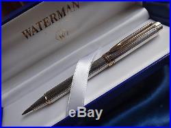 Waterman Le Man Sterling Silver Ballpoint Pen New In Box