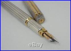 Waterman Man 100 Sterling Silver Fountain Pen Medium Point New In Box