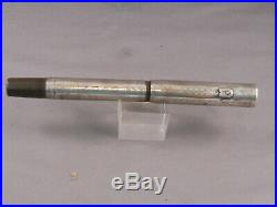 Waterman's Vintage 452 Sterling Silver Fountain Pen-flexible fine nib