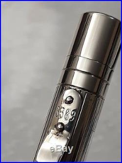 Yard-O-Led Classic Viceroy Sterling Silver Fountain Pen Medium 18ct Gold NIB VGC