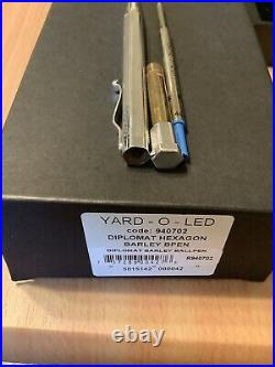 Yard O Led Diplomat Hexagonal Barley Ballpoint Pen Sterling Silver. New