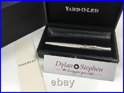 Yard O Led Grand Viceroy 925 sterling silver barley fountain pen 18K broad nib
