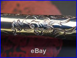 Yard-O-Led Limited Edition Imperial Dragon Engraved Sterling Silver Fountain Pen