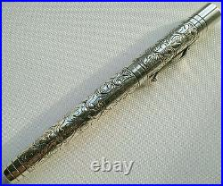 Yard O Led Sterling Silver Victorian Viceroy Grand Fountain Pen