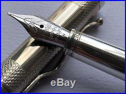 Yard-O-Led Viceroy Barley Sterling Silver Fountain Pen M Brand New