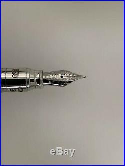Yard-O-Led Viceroy Barley Sterling Silver Pocket Fountain Pen M Nib, Mint