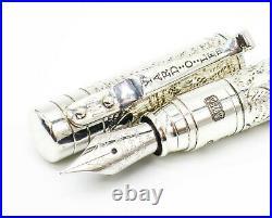 Yard-O-Led Viceroy Pocket Victorian Fountain Pen 18k Gold Medium Superb
