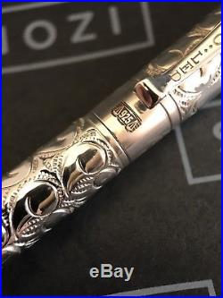 Yard O Led Viceroy Pocket Victorian Sterling Silver Ballpoint Pen