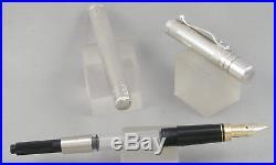Yard-O-Led Viceroy Sterling Silver Barley Pattern Fountain Pen In Box 18ct Nib