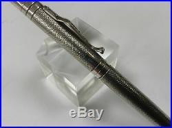 Yard-O-Led Viceroy barley pattern sterling silver fountain pen 18K fine nib