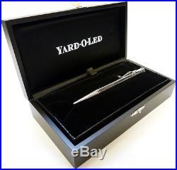 Yard o Led Diplomat Ballpoint Pen, Plain Finish, Sterling Silver, Free Engraving