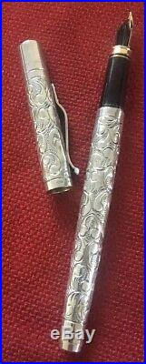 Yard-o-led Vintage Sterling Silver 925 Counting Pen Limited Edition 18k Nib